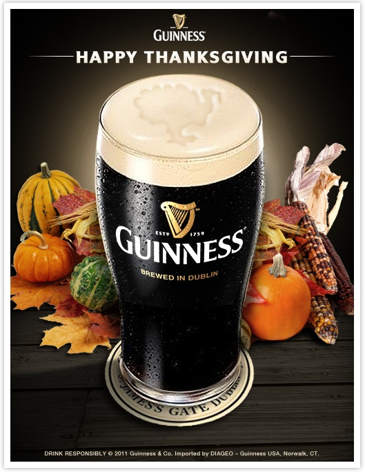 Happy Thanksgiving From Guinness Eire Beer
