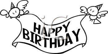 Birthday Black And White Clipart