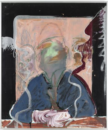 "richard hamilton artist | Richard Hamilton,""Portrait of the Artist by Fr. B. by D. R. by R. H ..."