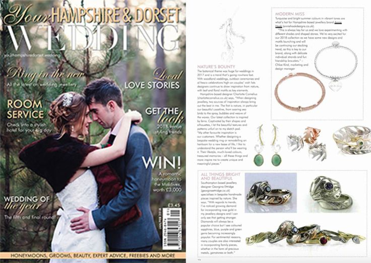 Our 'Grace' and 'Anna Bella' personalised bracelets featured in Your Hampshire & Dorset Wedding magazine