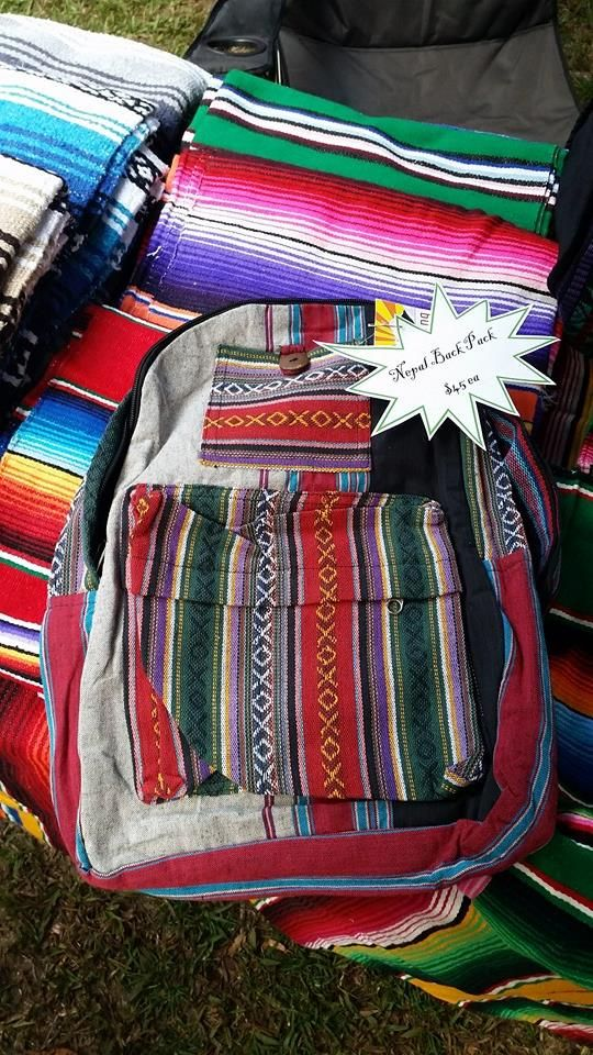 Nepal Backpack $45 See Milly Rose's facebook page for price & availability. If you wish to purchase Private Message us via facebook.