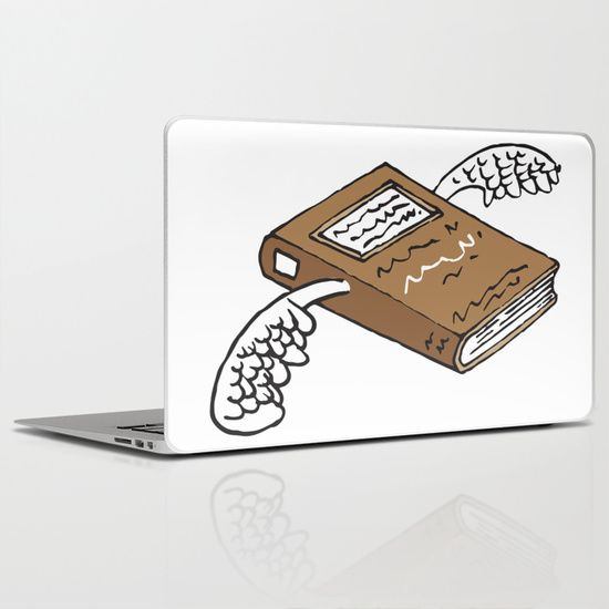 Books can give you wings 2 Laptop & iPad Skin