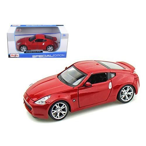 2009 Nissan 370Z Red 1/24 Diecast Model Car by Maisto