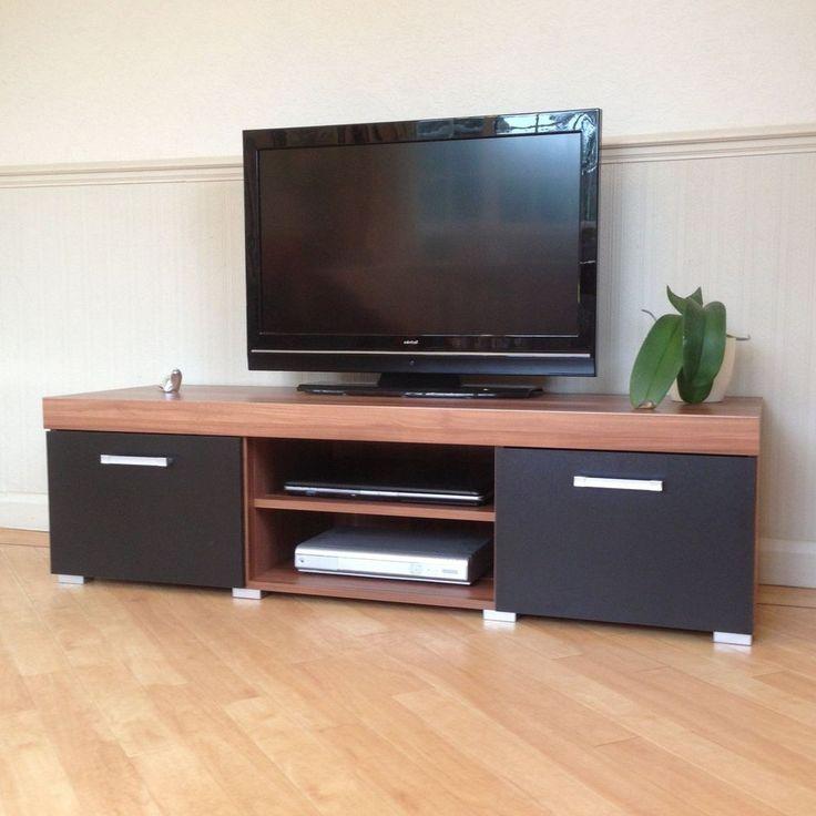 Large TV Stand Cabinet Modern Wood Furniture Entertainment Media Storage Unit