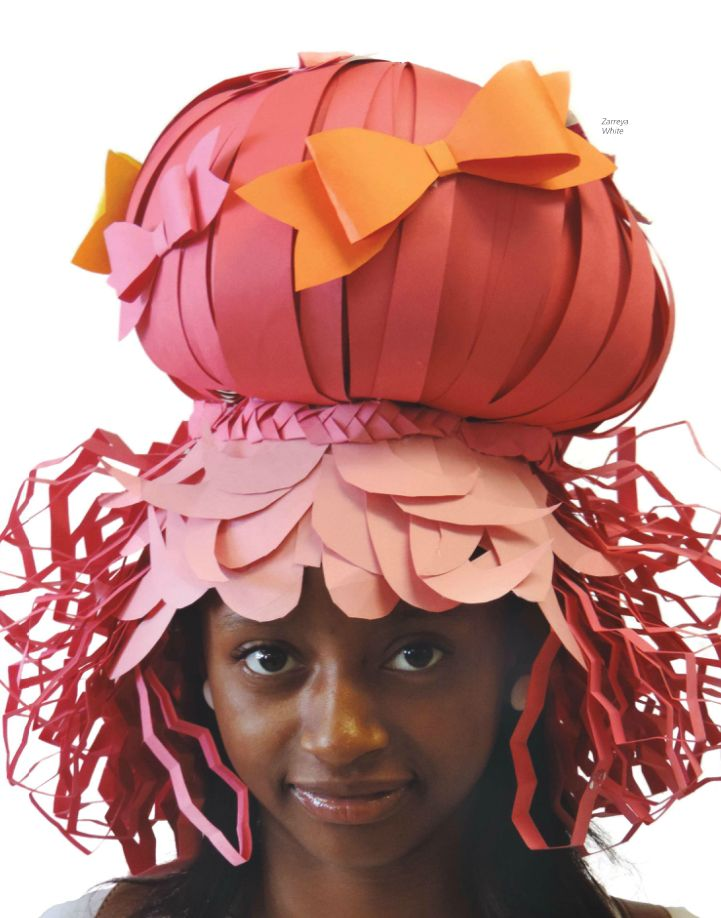 Wigging Out | Creating fanciful paper wigs. #HighSchoolStudioArtLessonPlans…