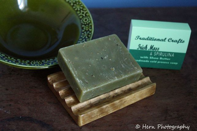 Irish Moss & Spirulina: Natural Exfoliating Cold Process Soap with Shea Butter