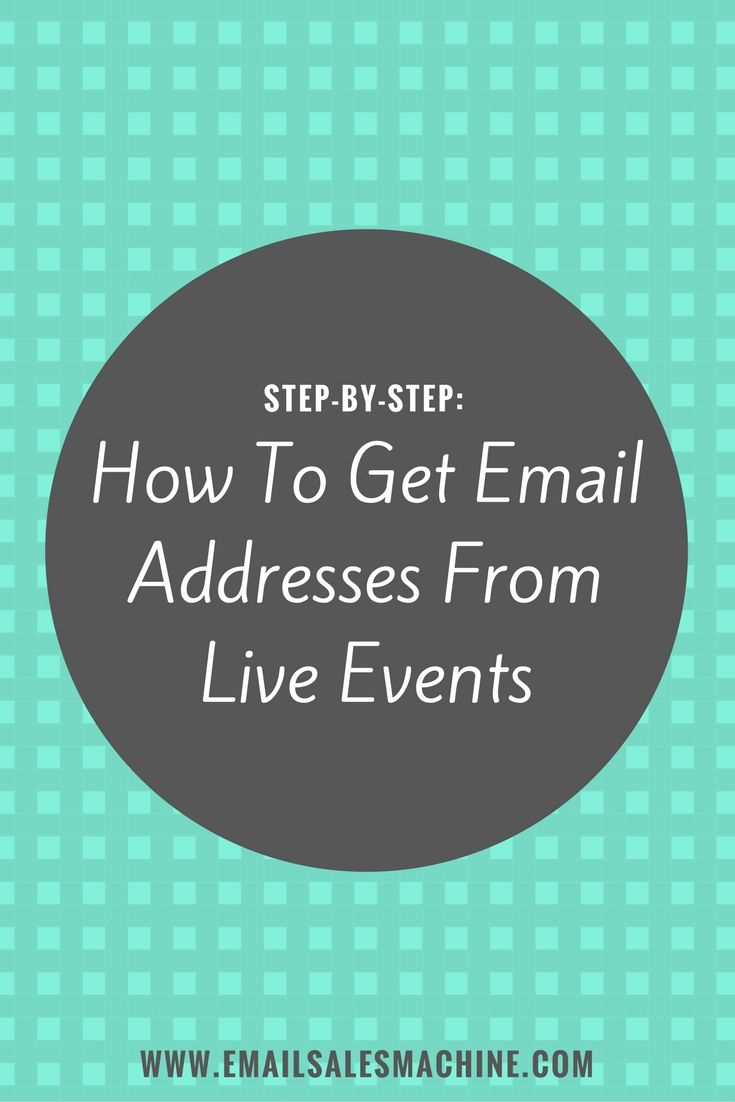 Looking for a unique way to get more email addresses from live events like trade shows?  This post also has a free 4-part email campaign you can download and start using today no matter what type of email marketing system you're using.