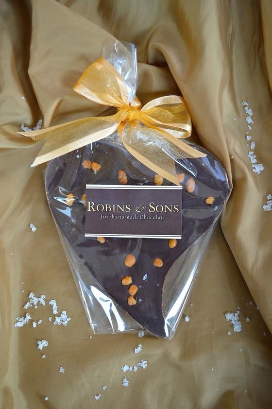 luxury Salted Caramel valentine gift heart dark chocolate buy online