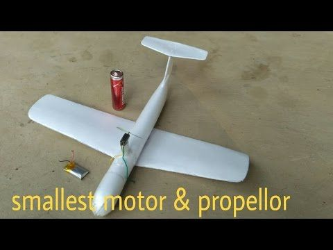 How to make a micro 3D rc plane At home - YouTube
