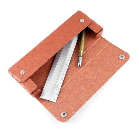 Midori Pulp Pasco Penalhus - Rød - Stilografika - notesbøger, fyldepenne, blyanter og tilbehør