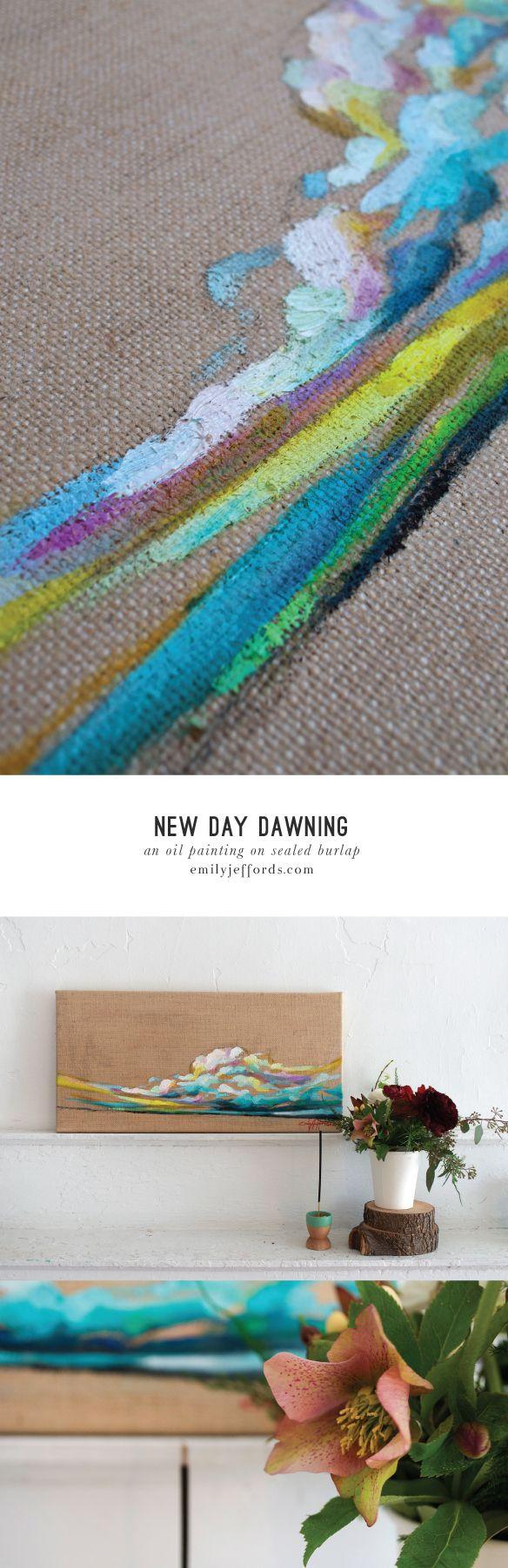 newday Dawning: Original Oil Landscape Painting Emily Jeffords