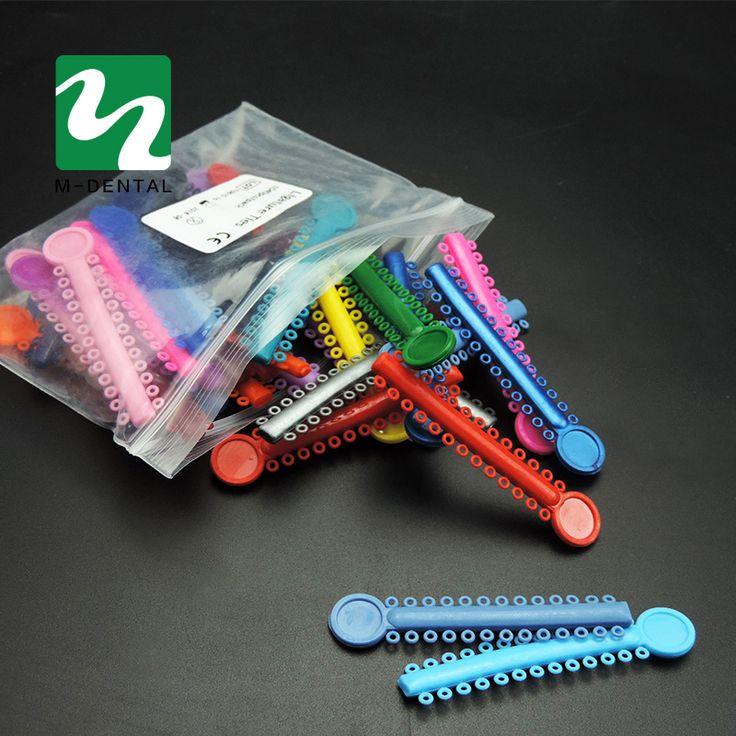 40 Pcs Dental Ligature Ties Orthodontics Elastic Rubber Bands Teeth Whitening Multi Color Plastic Unisex Small Elastic Tools