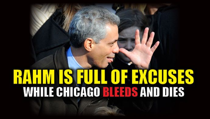 The year-end numbers for homicide in Chicago are sickening. Mayor Rahm Emanuel is too busy worrying about illegals and refugees to focus on the American people who are suffering in his city. President-elect Trump called Emanuel out on the staggering numbers in a tweet. Emanuel responded back with nothing but excuses. Chicago murder rate is record setting – 4,331 shooting victims with 762 murders in 2016. If Mayor can't do it he must ask for Federal help! — Donald J. Trump (@realDonaldTru...