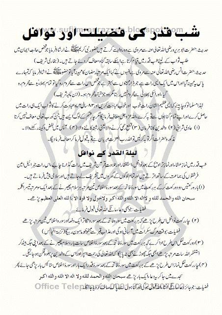 Shab e Qadar Ki Fazilat Aur Nawafil شب قدر کی فضیلت اور نوافل