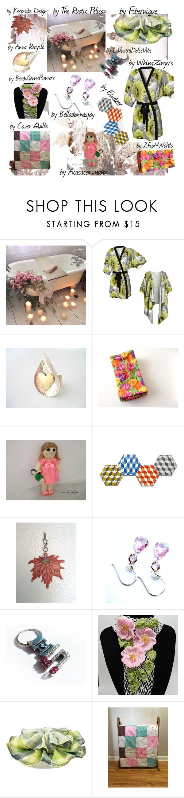 Happy Tuesday Etsy Friends by belladonnasjoy on Polyvore featuring Wild Rose, BMW, Hostess, Bambola, modern and rustic