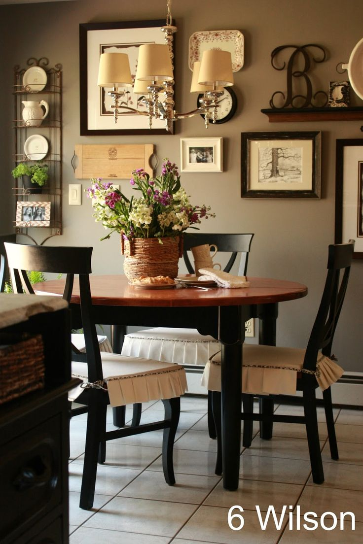 Gray favorite paint colors blog for Decorating a large dining room wall