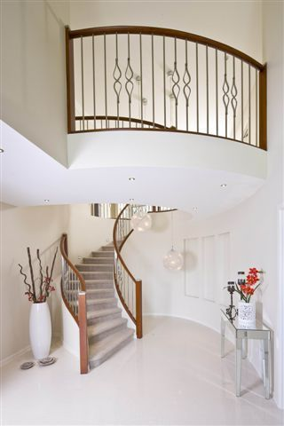 Tranquility Vista architecture design for luxury and fashionable living. #luxuryhome #foyer #stairs