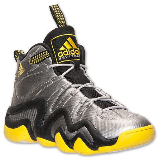 ADIDAS KOBE CRAZY 8 METALLIC SILVER BLACK YELLOW S84005 $120