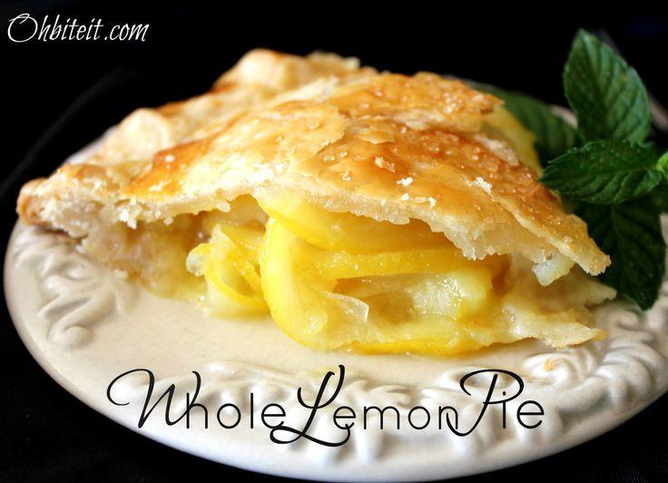 Whole Lemon Pie! | Pie! Pie! | Pinterest