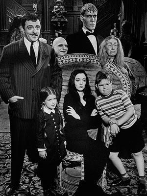 The Addams Family-my favorite TV show EVER. I could rhapsodize about its virtues for hours. Cousin It and Lurch and Thing were great supporting actors (well, we all know about Thing). If I ever have a pug, of course I will name him Pugsley! See also the very (in)credible movie remake here...