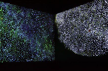 "Daniel Boyd's installation at APT7 ""A Darker Shade of Dark 2012"""