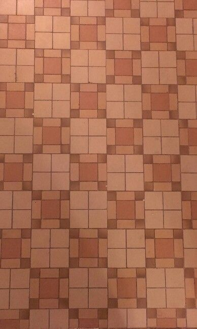 Floor tiles of a private home in West Hempstead. ... A quilting inspiration!