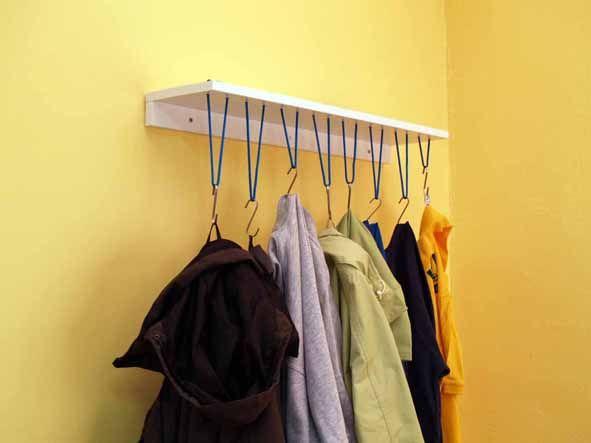 Seilgarderobe Einfach Und Platzsparend Garderobe Selber Bauen Garderobe Garderobe Ideen