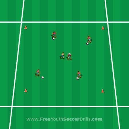 football training drills - fun U6 games!
