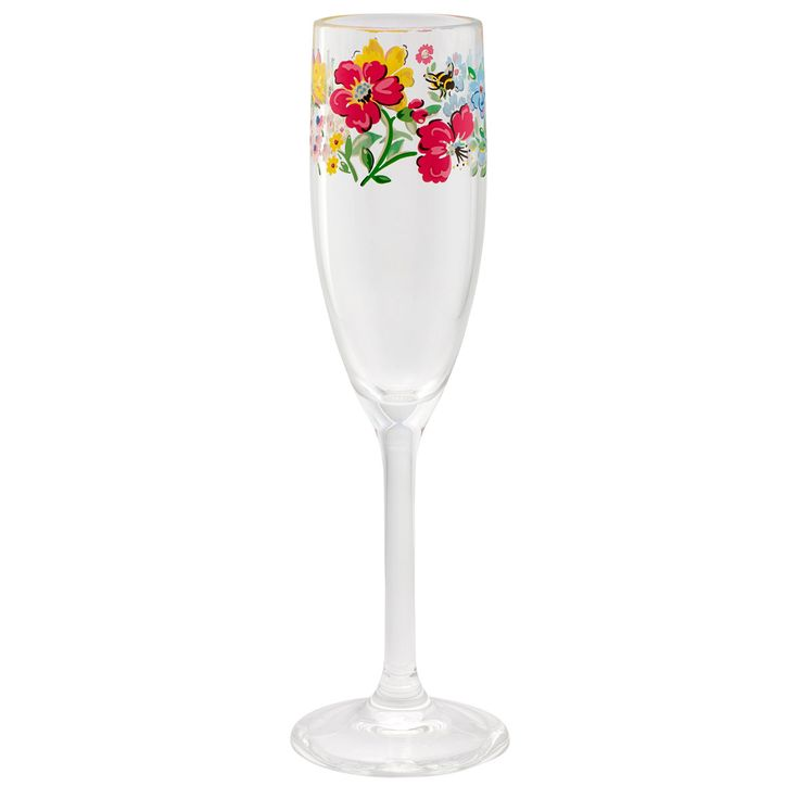 Meadow Plastic Champagne Glass | Cath Kidston |