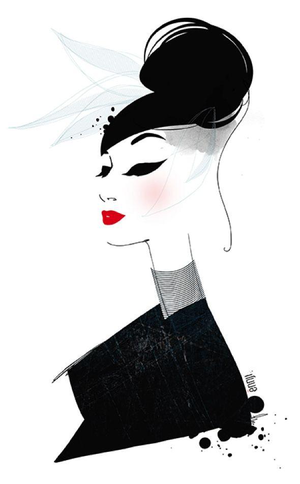 illustrations-mode-ennji-dessin-silhouette-feminines-rouge-noir-03