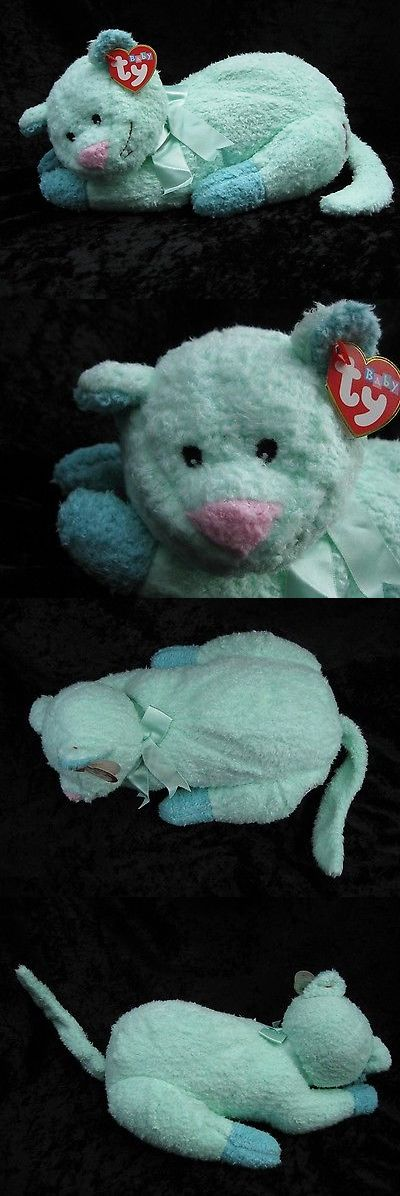 Pluffies 95271: Ty Pillow Pals Kittybaby Mint Green Cat Beanbag Plush W Rattle 2000 Nwt -> BUY IT NOW ONLY: $32.97 on eBay!