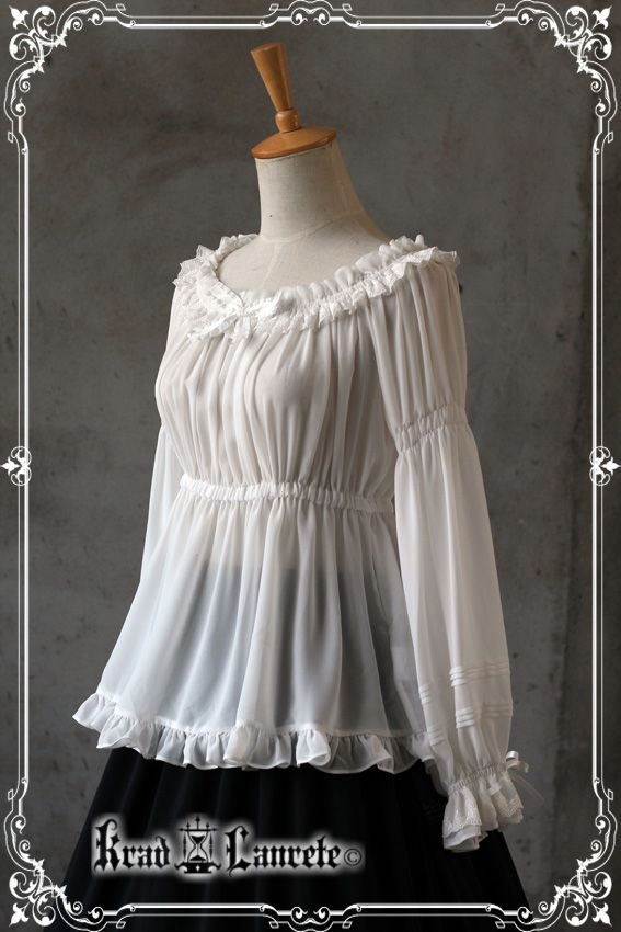 Krad Lanrete Phantom of the Opera chiffon blouse in white