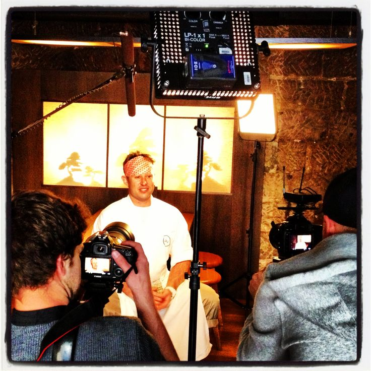 Chef Shaun Presland being filmed