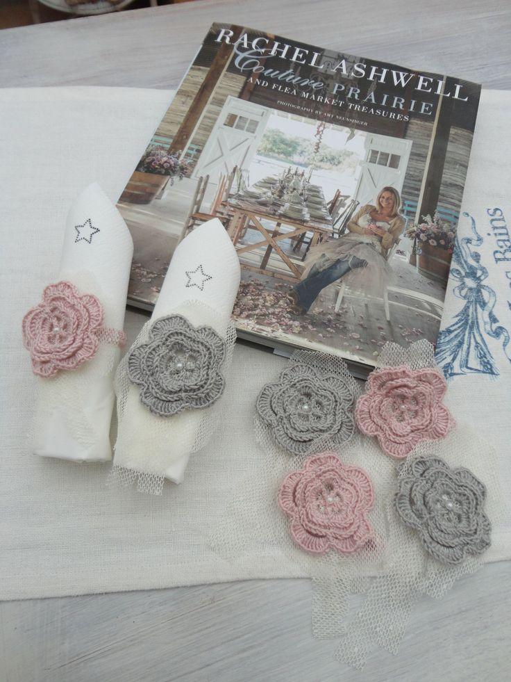 21 best images about rond de serviettes on pinterest - Set de table crochet ...