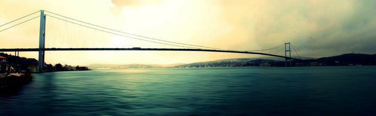 Panoramic Istanbul Bosphorus Bridge by Ayhan Duran  #Bosphorus #Bridge #Panoramic #istanbul #ortaköy #turkey