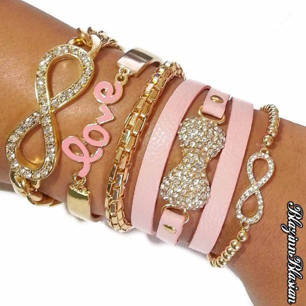 I want all of these pink and gold = gorgeous!!