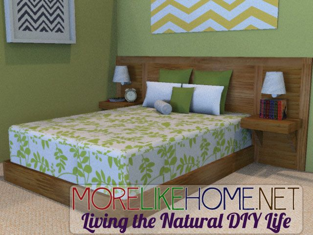 More Like Home: Day 5 - Build a Simple Modern Headboard & Day 6 - Build a Bed Frame