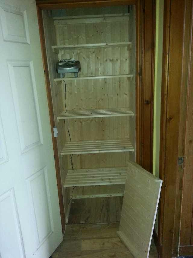Turned The Old Hot Water Tank Cupboard Into A Lovely Pantry Post Hot Water Tanks Water Tank Cupboard