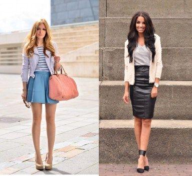 кожаная юбка фасоны, модные кожаные юбки