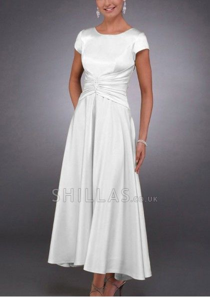 White Jewel Bridesmaid Dresses With Beading