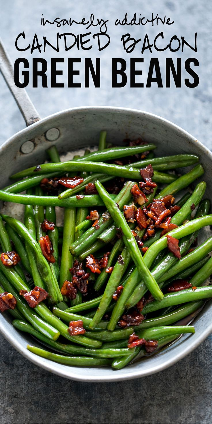 Sauteed Brown Sugar Bacon Garlic Green Beans | Stovetop | Fresh Green Beans  | French Beans | How to cook green beans | Steamed | Easy Side Dishes | Thanksgiving | Dinner