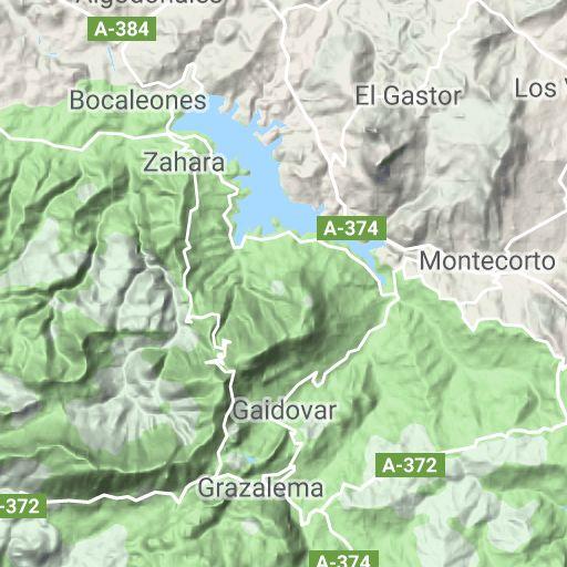 Mapa del espacio natural protegido- Ventana del visitante