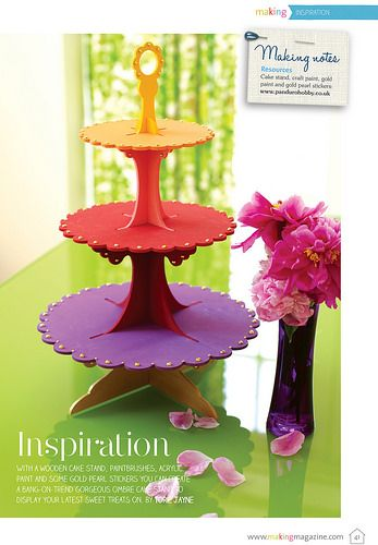 Cake stand as seen in Making Magazine | Flickr - Photo Sharing!