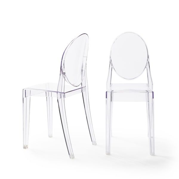 Corvus Irene Ghost Style Modern Dining Chair (Set of 2) | Overstock.com Shopping - The Best Deals on Dining Chairs