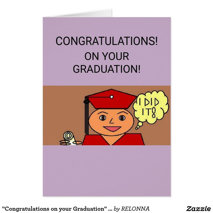 """Congratulations on your Graduation"" Greeting Card"