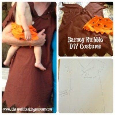 DIY Barney Rubble Costumes #MummyMondays - The Multitasking Mummy