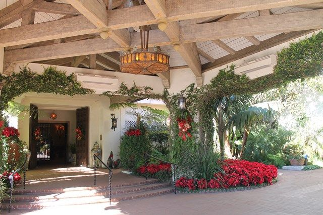 Four Seasons Resort The Biltmore Santa Barbara during the holidays.