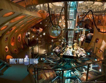 Doctor Who Wallpaper Mural Tardis Interior (Fixed Size