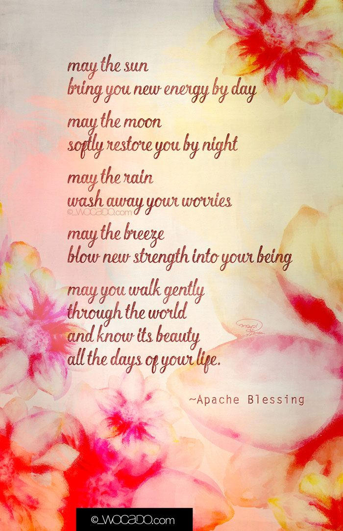 May the Sun Apache Blessing Printable 11x17 Poster by WOCADO. Pay what you want (even free) download!