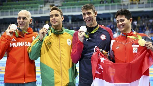 Joseph Schooling beats Michael Phelps to 100m butterfly gold - Rio 2016 - Swimming - Eurosport